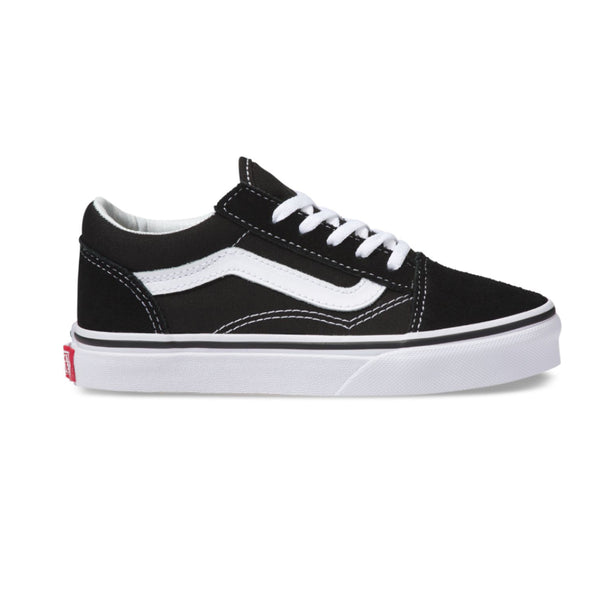 VANS YOUTH OLD SKOOL SHOES BLACK / TRUE WHITE