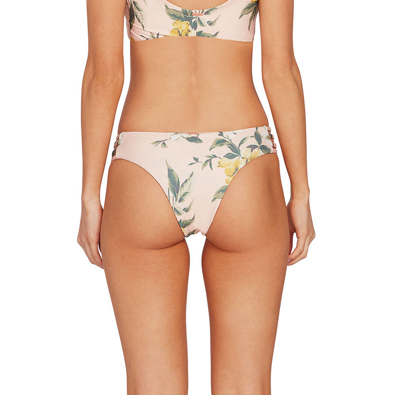 VOLCOM WOMEN GROWING SOLO CHEEKY BIKINI BOTTOM LIGHT PEACH
