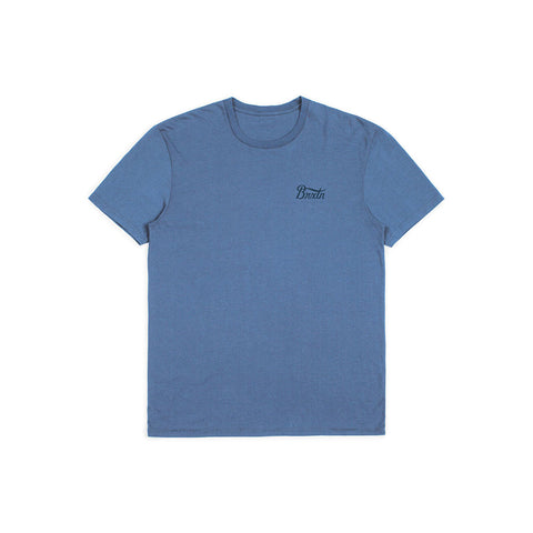 BRIXTON POTRERO S/S PREMIUM TEE WASHED ROYAL