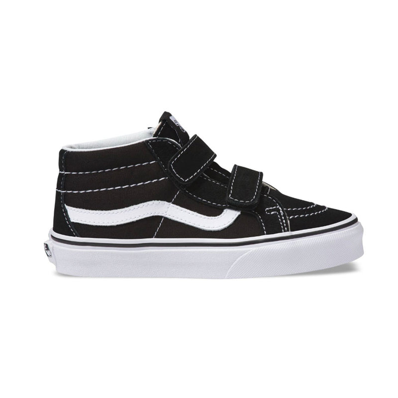 VANS YOUTH SK8-MID REISSUE SHOES BLACK / TRUE WHITE