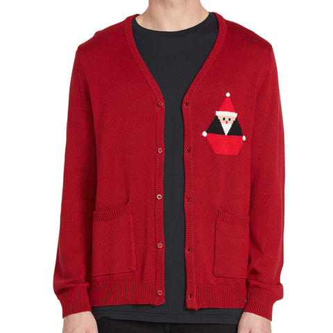VOLCOM SANTASTONE CARDIGAN DEEP RED