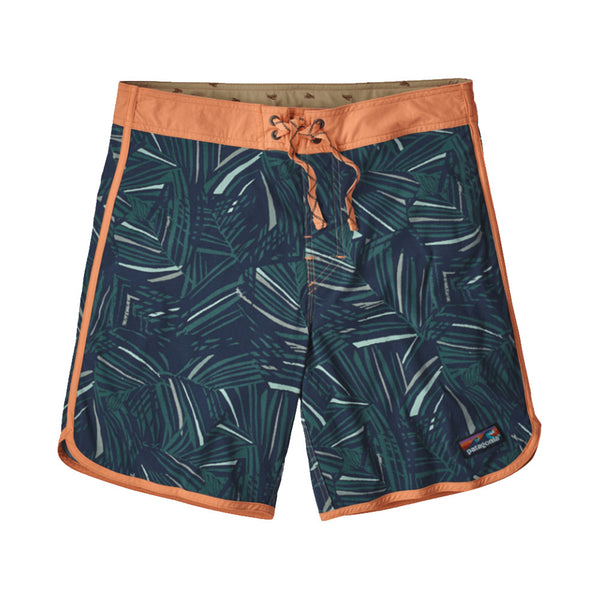 "PATAGONIA MEN'S SCALLOP HEM STRETCH WAVEFARER 18"" BOARDSHORT RAIN FERN MULTI: TASMANIAN TEAL"