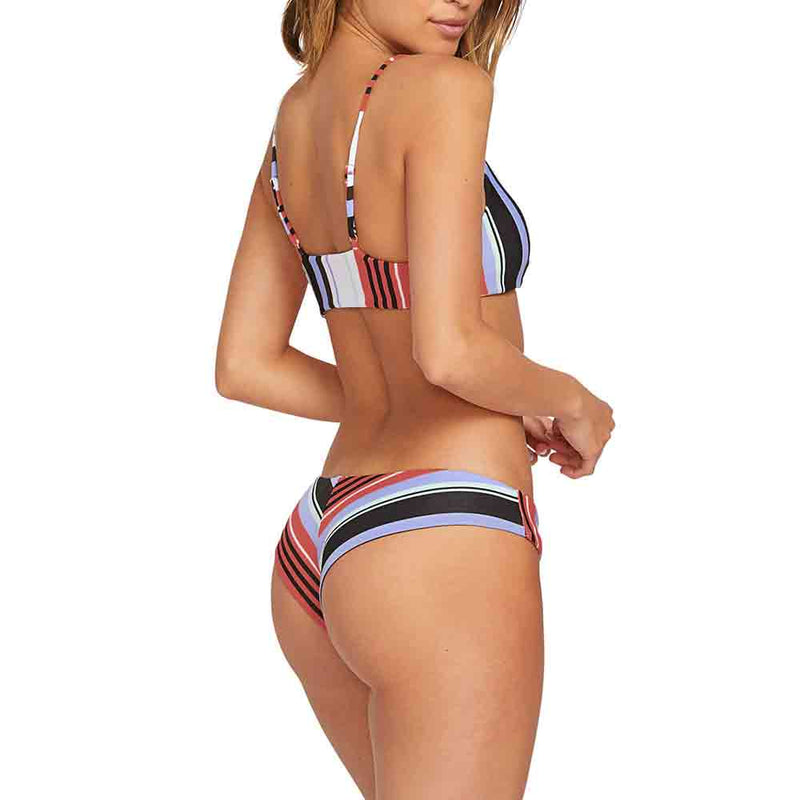 Volcom Womens Stripe Teas Cheekini Bikini Bottom Multi