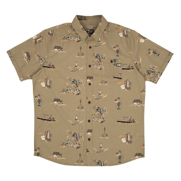 Salty Crew Pescador S/S Woven Shirt Olive
