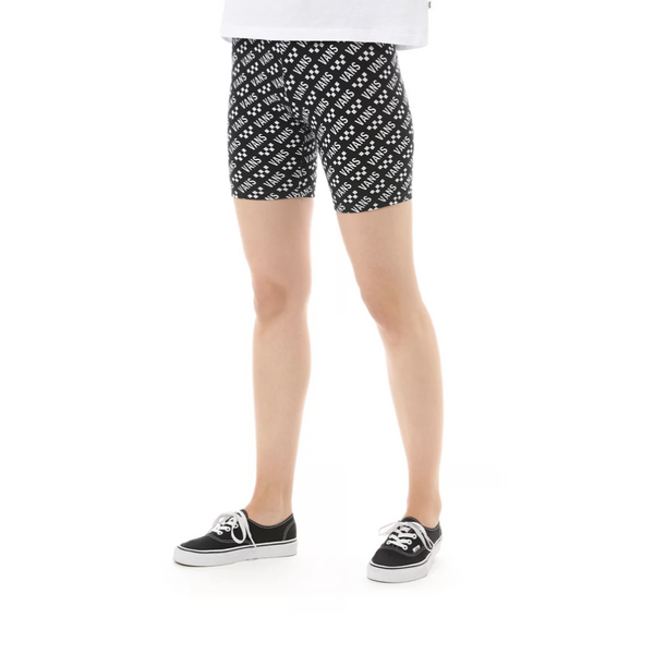 VANS WOMENS BRAND STRIPER BIKE SHORT BLACK/WHITE