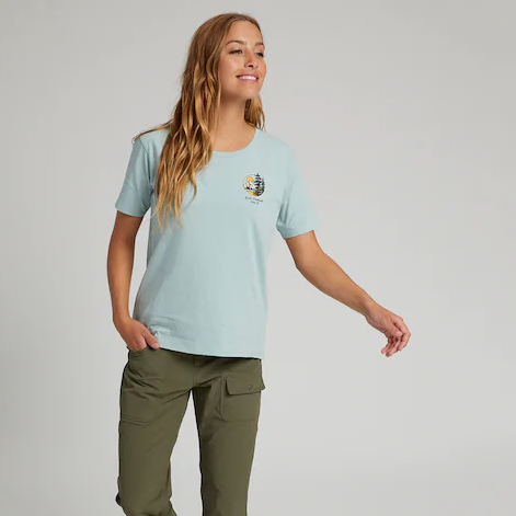 Burton Womens 2021 Ashmore Scoop Tee Ether Blue