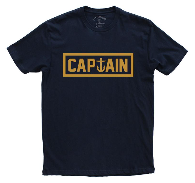 Captain Fin Naval Captain Premium Boys Tee Navy Gold