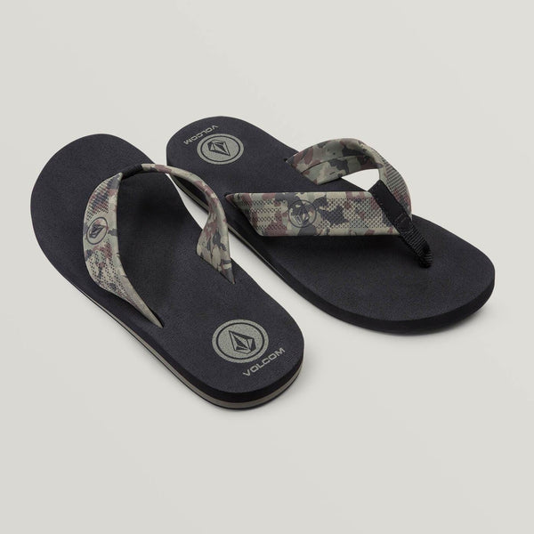 VOLCOM MEN DAYCATION SANDALS DARK CAMO