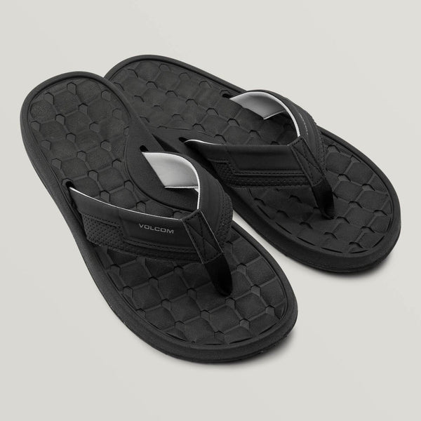 VOLCOM MEN E-CLINER SANDALS BLACK