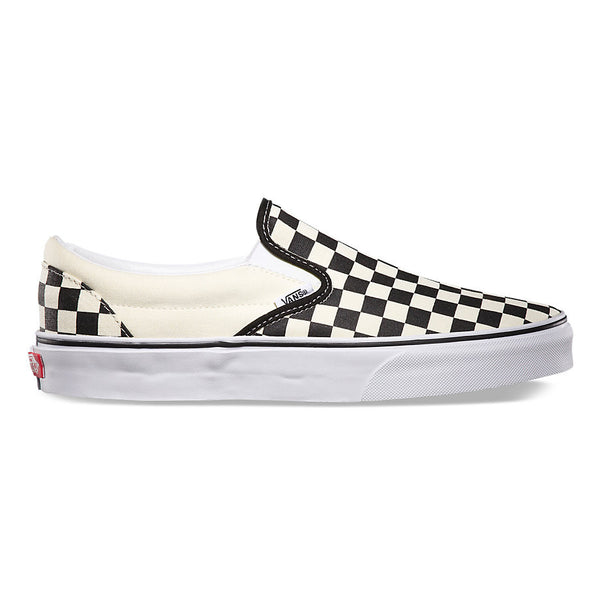 VANS CLASSIC SLIP-ON SHOES BLACK & WHITE CHECKERBOARD