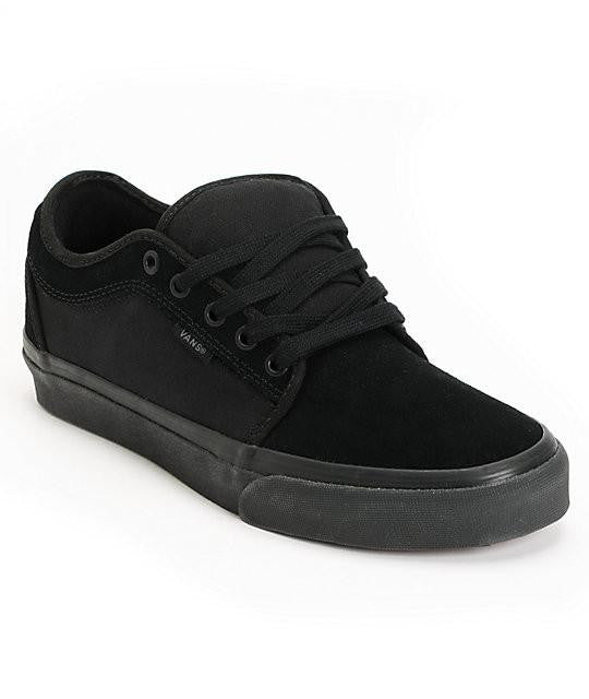 VANS YOUTH CHUKKA LOW SHOES BLACKOUT