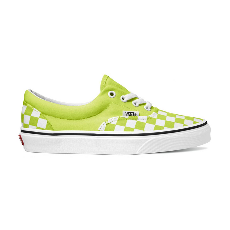 VANS ERA SHOES CHECKERBOARD SHARP GREEN/TRUE WHITE