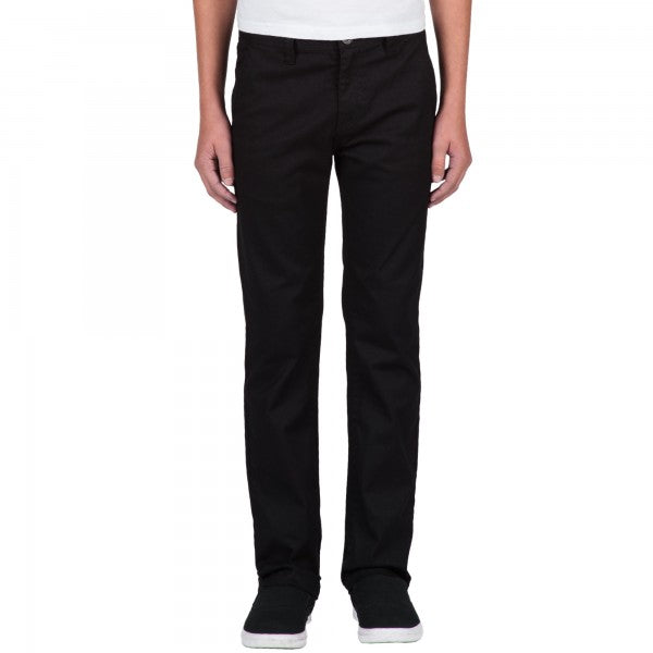 VOLCOM YOUTH FRICKIN MODERN STRETCH CHINO PANT BLACK