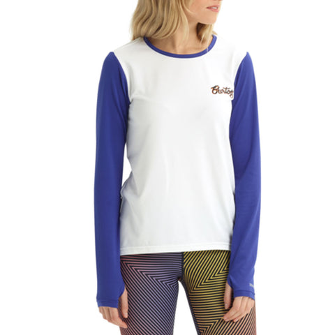 BURTON WOMENS W20 BASE LAYER TECH TEE STOUT WHITE