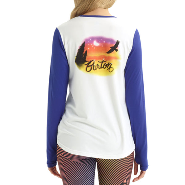 BURTON WOMENS 2020 BASE LAYER TECH TEE STOUT WHITE