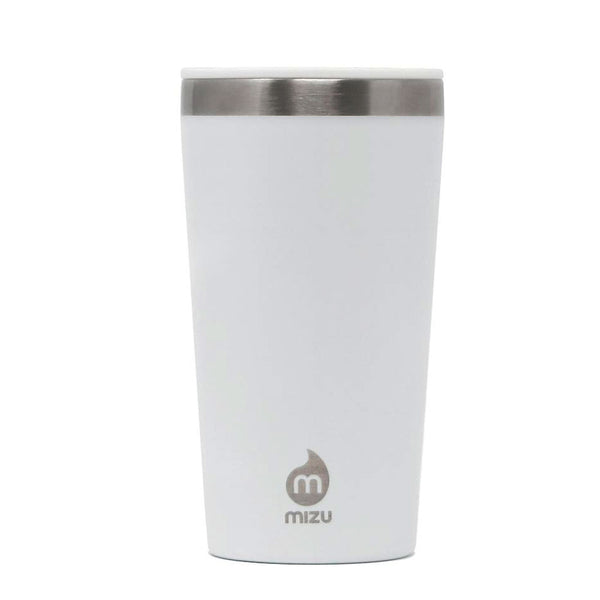 MIZU INSULATED TUMBLER 16 W/ SIP LID WHITE