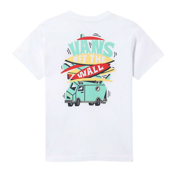 VANS TODDLER BOARDED UP S/S TEE WHITE