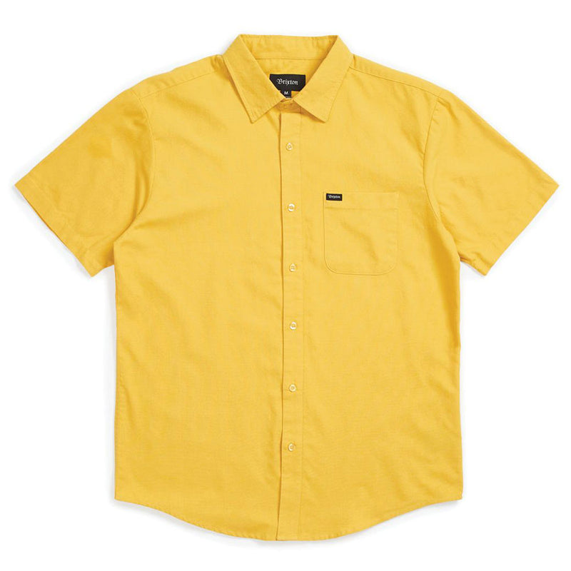 Brixton Charter Oxford S/S Woven Shirt Sunset Yellow
