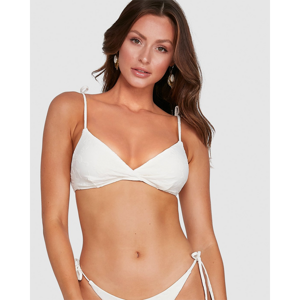 Billabong Fade To White T J Bikini Top Salt Crystal