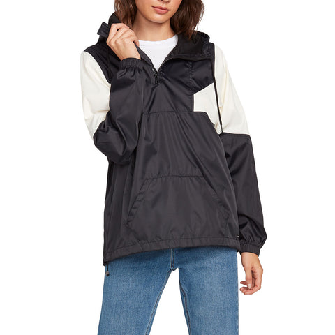 VOLCOM WOMEN WIND STONED JACKET BLACK / WHITE