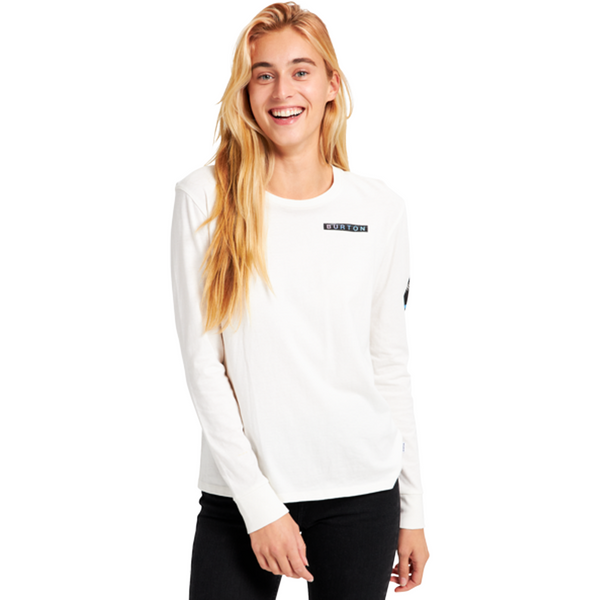Burton 2021 Talent Scout L/S Womens Tee Stout White