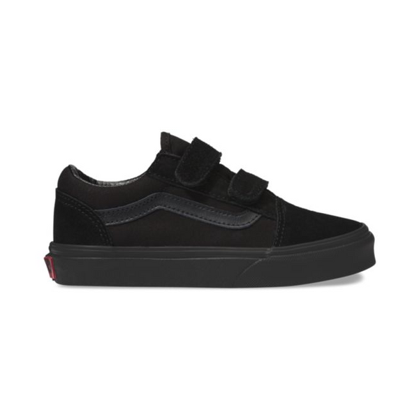 VANS YOUTH OLD SKOOL V SHOES BLACK/BLACK