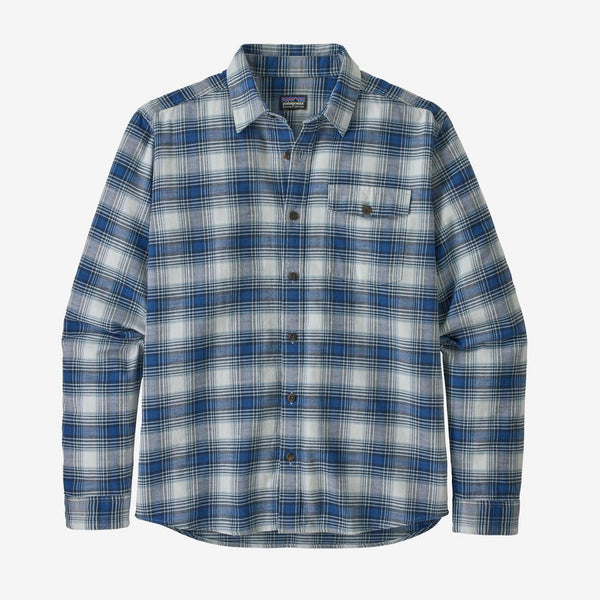 PATAGONIA MEN'S L/S LIGHTWEIGHT FJORD FLANNEL SHIRT GRANGE SUPERIOR BLUE