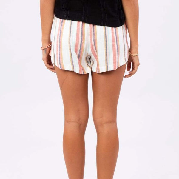 RIP CURL WOMENS SEAPORT STRIPE SHORT MULTI