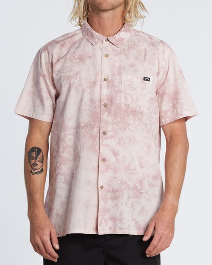 Billabong Sundays Tie Dye S/S Shirt Pink Haze