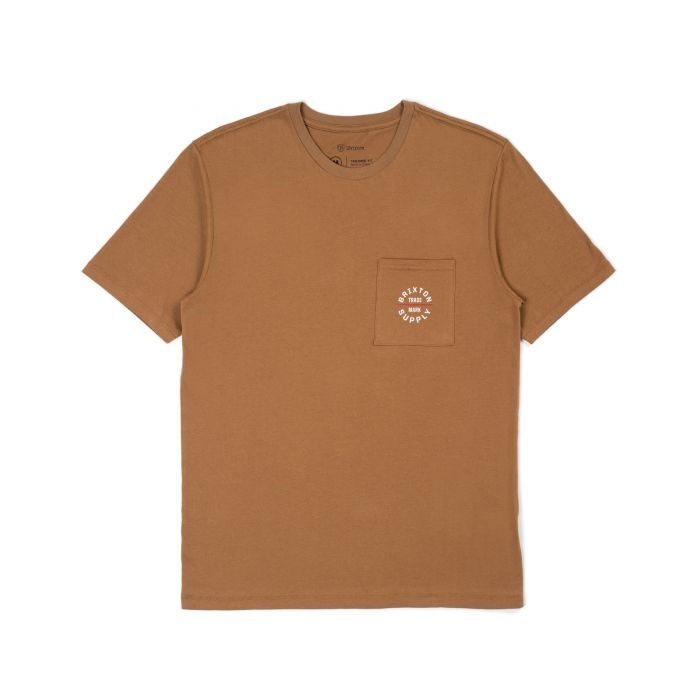 BRIXTON OATH VII S/S POCKET T-SHIRT COCONUT