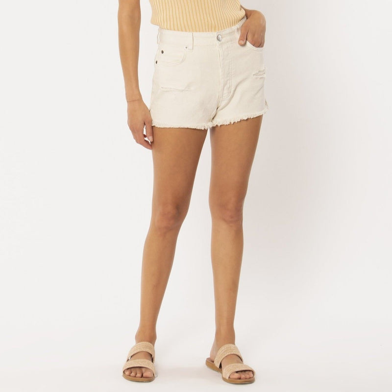 AMUSE SHORELINE DENIM WOVEN SHORTS WHITE CAP