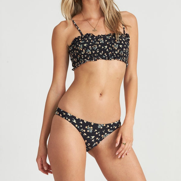 BILLABONG SWEET SIDE TROPIC BIKINI BOTTOM BLACK PEBBLE