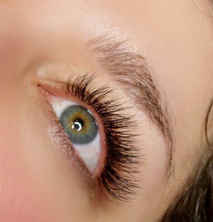 filled lashes