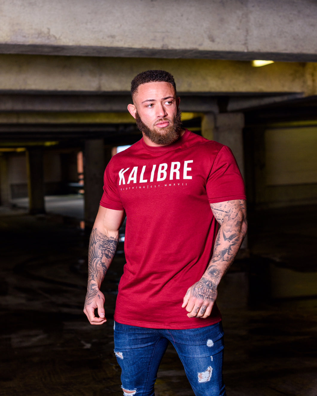 Ox blood Red Longline T-Shirt