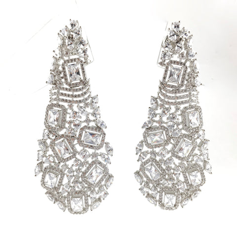 Long Designer Contemporary Earrings