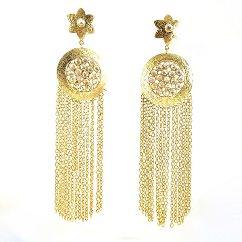Long Chain Danglers Golden