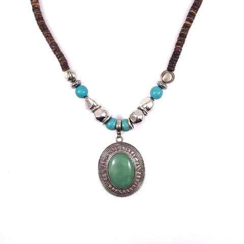 Green and Firoza Statement Necklace