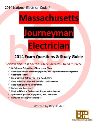 Massachusetts 2014 Journeyman Electrician Study Guide