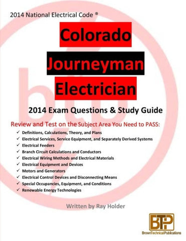 Colorado 2014 Journeyman Electrician Study Guide