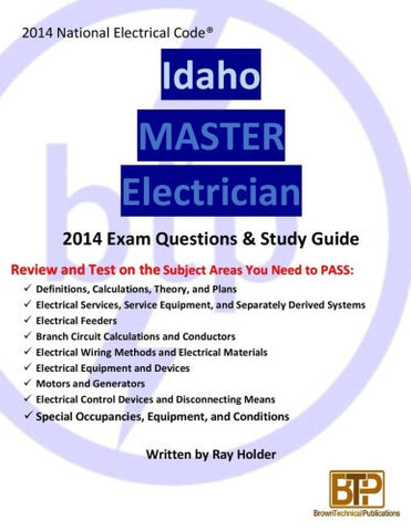 Idaho 2014 Master Electrician Study Guide
