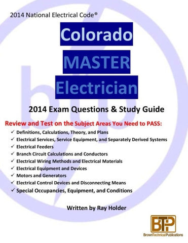 Colorado 2014 Master Electrician Study Guide