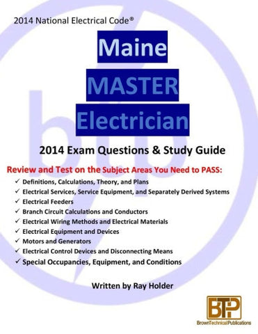 Maine 2014 Master Electrician Study Guide