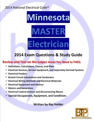 Minnesota 2014 Master Electrician Study Guide