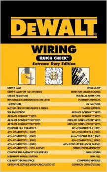 DeWALT Wiring Quick Check 2011 Code: Extreme Duty Edition