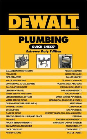 DEWALT Plumbing Quick Check, Extreme Duty Edition