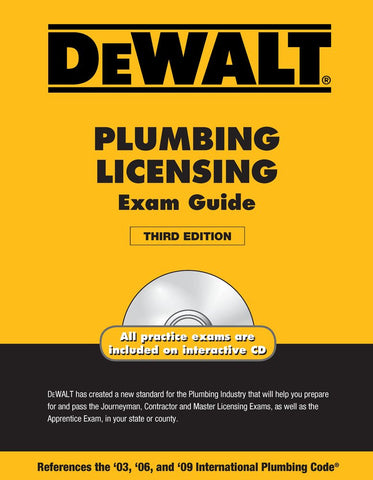 DEWALT Plumbing Licensing Exam Guide,3rd Edition