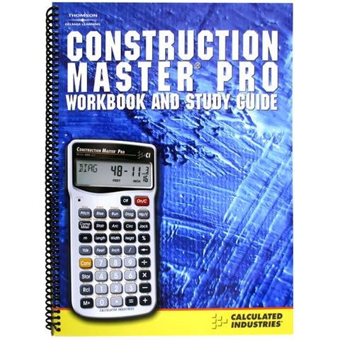 Calculated Industries Construction Master Pro Workbook and Study Guide