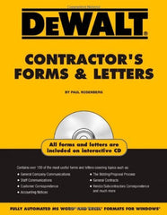 DEWALT Contractor's Forms & Letters, 1st Edition