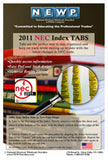 2011 NEC - National Electrical Code Tabs (For PB, Spiral & Hndbk)