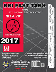 2017 nec code book tabbed and highlighted